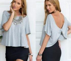 New Stylish Lady Women Fashion Short Sleeve O-Neck Sexy Loose Short Tops Blouse