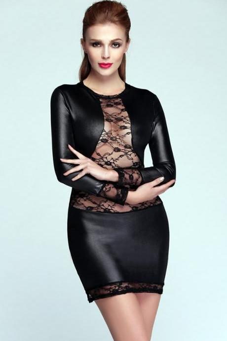 New Sexy Women's Long Sleeve Stretch Bodycon Party Cocktail Mini Dress