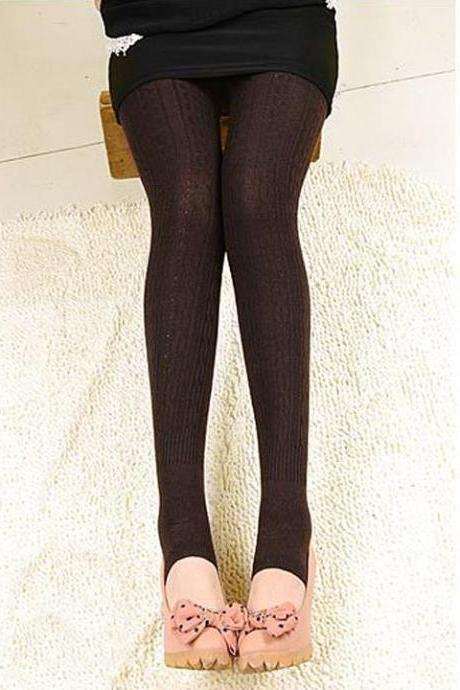 New Fashion Women's Winter Warm Knitted Leggings Thick Slim Fitting Stretchy Leggings