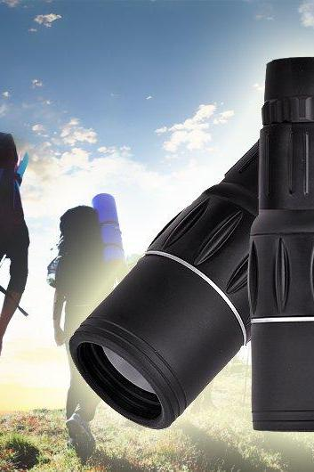 Black Monocular Telescope 16x Zoom In 66M/8000M Field Monocular Telescope