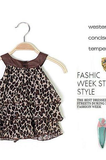 Baby Girl Summer Dress Leopard/Zebra Sleeveless party Birthday Gift Dress Tops
