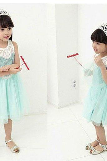 HOT Children Baby Lace Princess Costume Cosplay Tulle Girls Dress Dresses