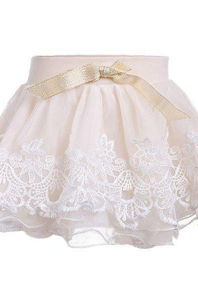 Baby Girl Kids Children's Summer Net Yarn Bow Layered Short Skirt