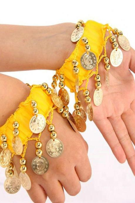 Women's Belly Dance Wrist Bands (A Pair)
