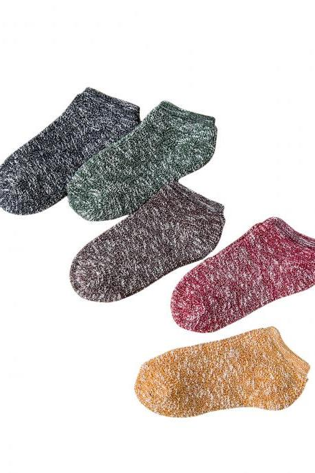 Women's 5 Pairs Ethnic Style Thicken Warm Causal Ankle Socks