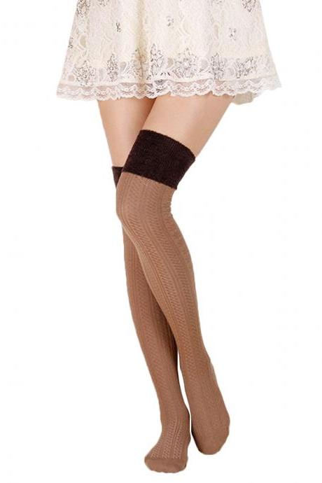 Women's Soft Warm Cotton Over Knee High Socks