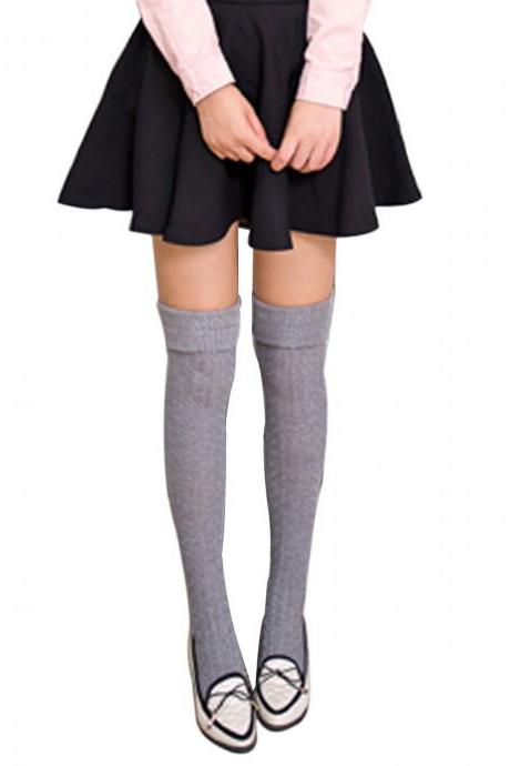Women's Sweet Solid Twist Thick Knee High Socks