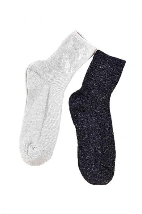 Women's 3 Pairs Casual Solid Breathable Anti-Odor Crew Socks
