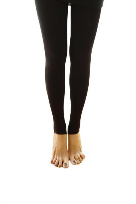 Women's Solid Matte Seamless Slim Elastic Open-Toed Foot Tights