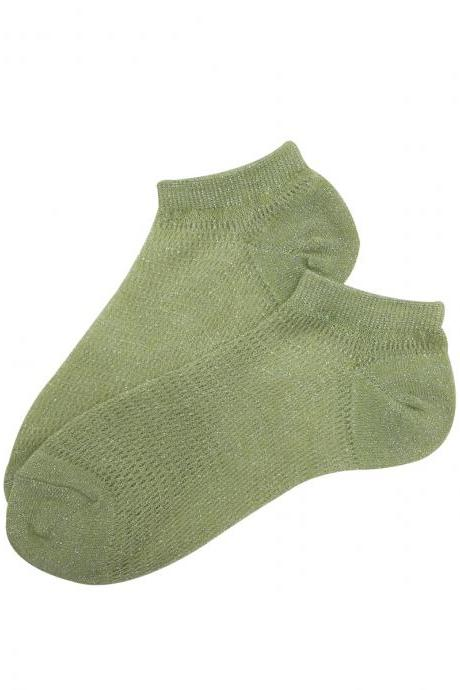 Women's Solid Color Anti-Odor Causal Ankle Socks