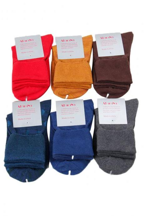Women's 3 Pairs Candy Color Solid Breathable Socks