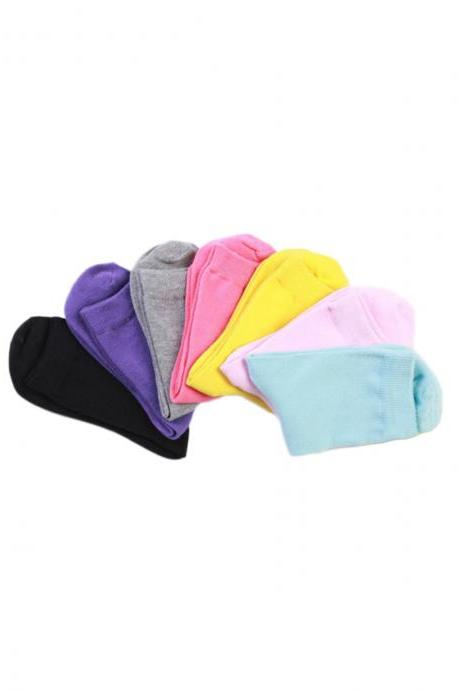 Women's 7 Pairs Gift Box Solid Color Socks