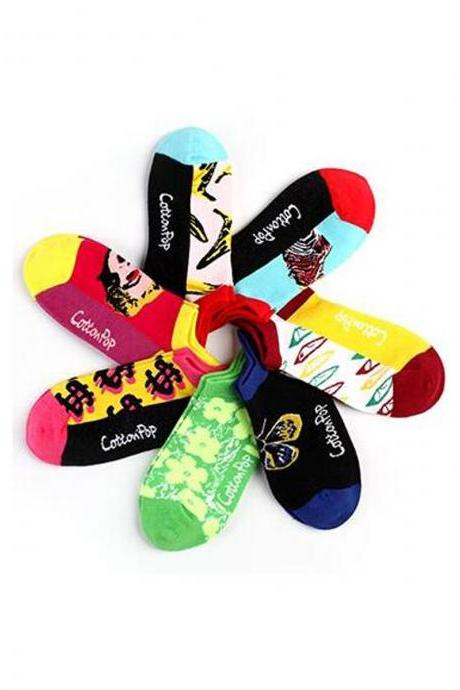 Women's 7 Pairs Multi-Color Ankle Socks