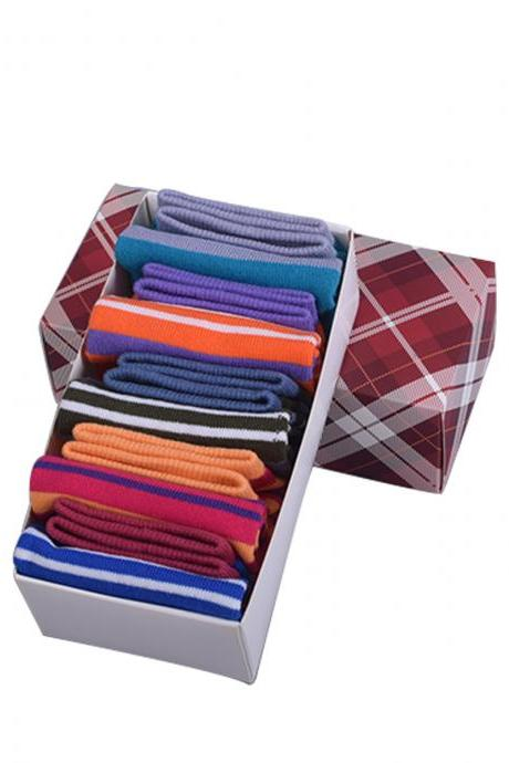 Women's 5 Pairs Gift Box Striped Five Toe Ankle Socks