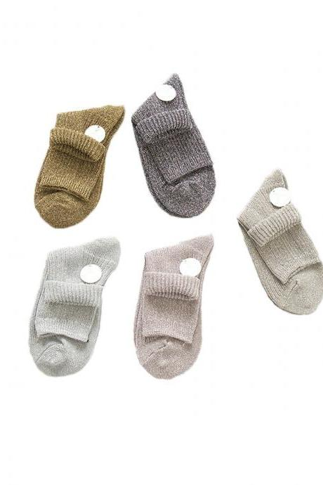 Women's 3 Pairs Mori Girl Style Stripes Breathable Crew Socks