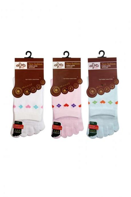 Women's 3 Pairs Non-Slip Antibacterial Anti-Odor Five-Toe Socks