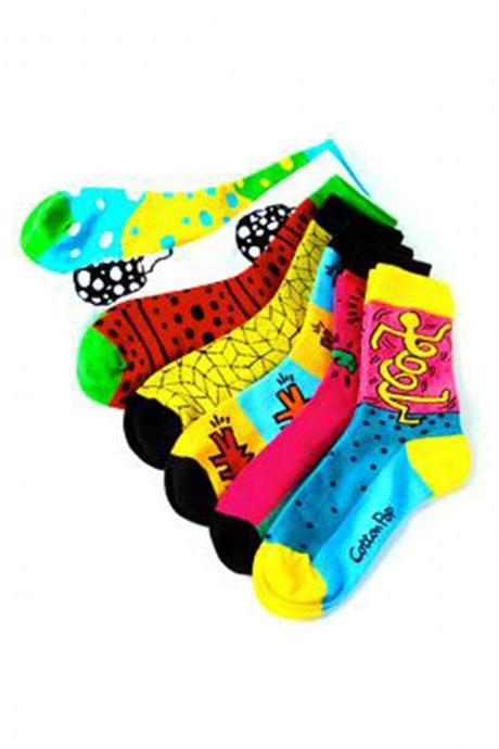 Women's 7 Pairs Polka Dot Socks