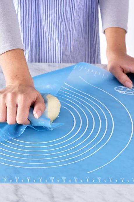 Blue Round Pattern Household Practical Kneading Mat