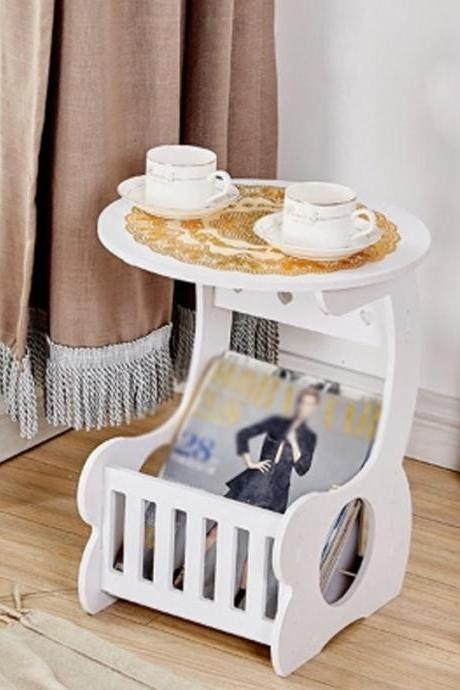 Simple Detachable Round Coffee Table With Storage Function