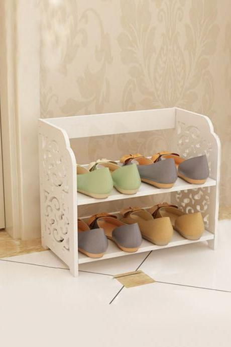 European Style Hollow Out Pattern Shoes Storage Organizer
