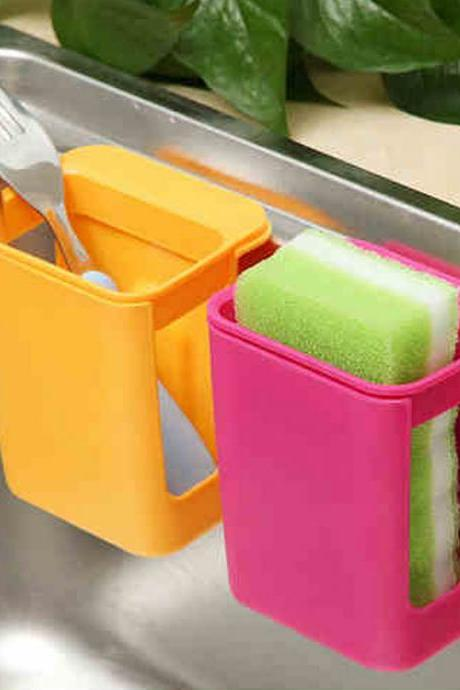 Candy Colored Suction Type Sink Use Storage Organizer