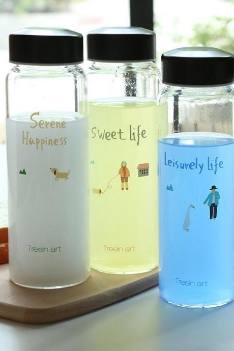 Serene Happy Convenient Silm Travel Glass