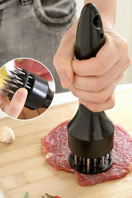 Quick and Easy Stainless Steel Long Handle Meat Tenderizer