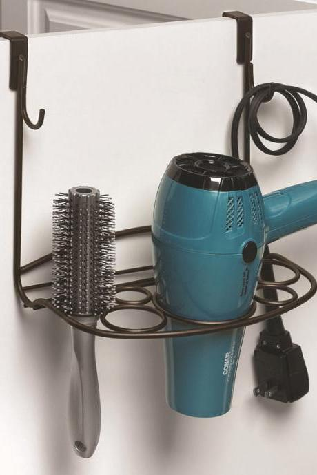 Multifunctional Bathroom Use Hair Drier Comb Storage Organizer