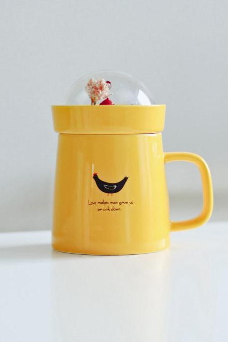 Coffee Cup Creative Cute Garden Shaped Milk Cup With Cap