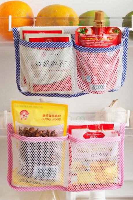 Hanging Storage Bag Multi Use Kitchen Mesh Bag