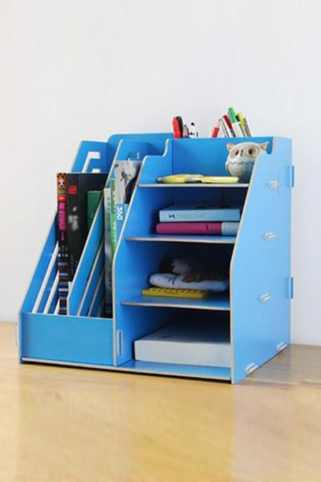 Plus Size Wooden DIY Office Use Document Stationery Storage Organize