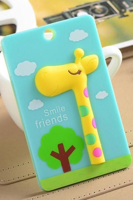 Kawaii Stereo Cartoon Giraffe Pattern Card Holder