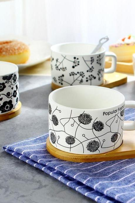 Coffee Cup Delicate Dandelion Love Pattern Coffee Cup