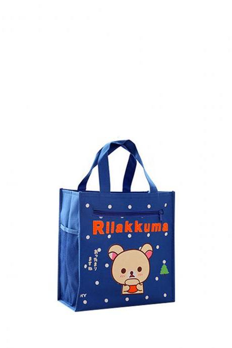 Lunch Bag Cartoon Pattern Large Capacity Portable Meal Bag