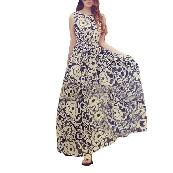 Women Summer Boho Long Maxi Evening Party Chiffon Dress Beach Dresses